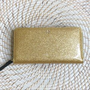 NWT Kate Spade Mavis Street Gold Wallet